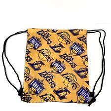 Los Angeles Lakers NBA Basketball Cinch Back Sack Drawstring Bag New
