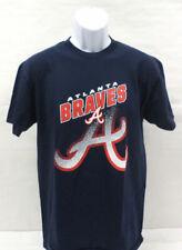 MLB Atlanta Braves Mens Shirt Short Sleeve Navy Blue CHOOSE YOUR SIZE