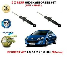 FOR PEUGEOT 407 1.8 2.0 2.2 1.6 HDI 2004->on 2X REAR SHOCK ABSORBER SHOCKER SET