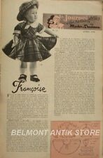 Modes et travaux n°640 - 1954- Réalisation de 1 costume - Robe pour  Françoise