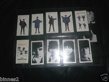 THE BEATLES HELP ! WARUS LIMITED EDITION TRADING CARDS FULL SET TEN IN WALLET