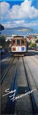San Francisco, Cable Car, Alcatraz California Panoramic Poster 12x36 inches NEW