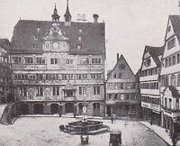 Tübingen - Rathaus mit Marktplatz - um 1920 -  RAR