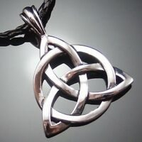 """Celtic Knot Triquetra Trinity Pewter Pendant with 20"""" Choker Necklace PP#234"""