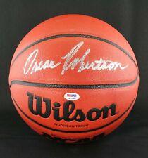 Oscar Robertson SIGNED I/O Wilson NCAA Basketball Bearcats PSA/DNA AUTOGRAPHED