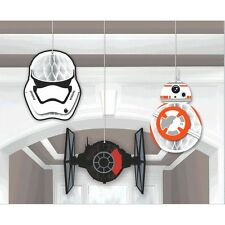 Star Wars Party Supplies Episode VII HONEYCOMB DECORATIONS Genuine Licensed
