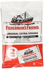6 Pack Fishermans Friend Extra Strong Menthol Cough Suppressant 40 Lozenges Each