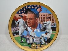 FRANKLIN MINT ROYAL DOULTON LOU GEHRIG THE IRON HORSE COLLECTOR PLATE