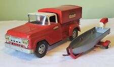 Tonka Toys Ford DELUXE SPORTSMAN PICK-UP TRUCK W/BOAT & TRAILER SET 50's NICE