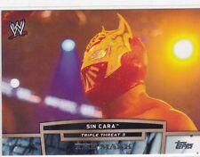 2013 TOPPS WWE SIN CARA TRIPLE THREAT 3 WRESTLING INSERT CARD
