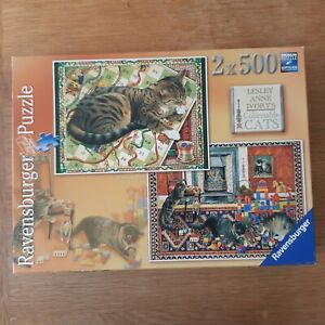 LESLEY ANNE IVORY: CATS AT PLAY: 2 X 500 PIECE JIGSAWS GUARANTEED COMPLETE