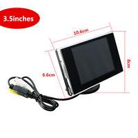"""3.5 """" Zoll Farbe TFT LCD Auto Display für DVD Rückspiegel Kamera VCD 12V 2ch"""