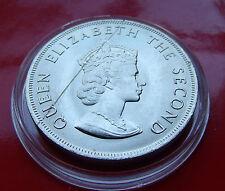 JERSEY 1966 Five Shillings Elizabeth II, Scratch across bust. with HOLDER
