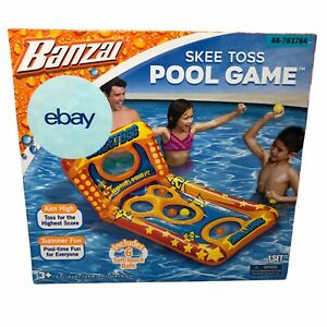 Banzai Skee Toss Pool Game Includes 6 Soft Touch Balls NEW 3+