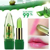 99% ALOE VERA Natürliche Temperatur Farbwechsel Gelee Lippenstift Langlebig NEU