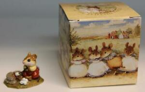 Wee Forest Folk M-109 Campfire Mouse 1984 (WP) with Box WFF
