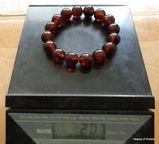 Antique Natural round cherry Baltic Amber Beads stretch  bracelet      20 grams