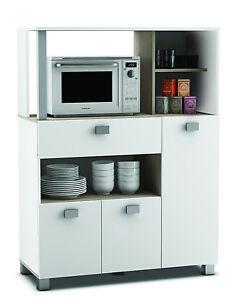 Küchenschrank weiss Singleküche Küchenregal Küchenmöbel Buffetschrank Küche