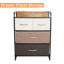 Storage Bins Chest of Fabric Drawers Dresser Furniture Cabinet w/4 Toy Organizer
