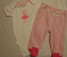Bon Bebe 6-9 Month Footed Velour Pant Carters 6 MONTH Ballerina Bodysuit NWT