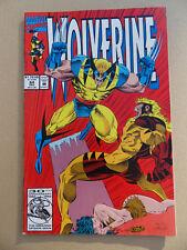 Wolverine 64 . Sabretooth App .Marvel 1992 . VF - minus