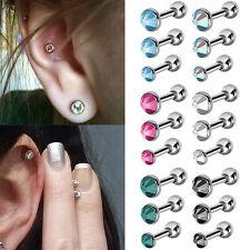 FX- 3Pcs/Lot Rhinestone Tragus Helix Bar Cartilage Piercing Earrings Exquisite