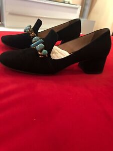 Miu Miu suede Pumps with turquoise stones, 40,5