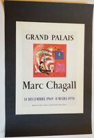 Marc Chagall The Rainbow Mourlot Poster offset Lithograph 9.5 x 12.5 1975