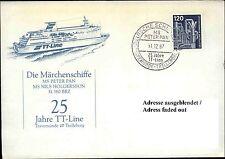 Schiffspost 25 Jahre TT-Linie Travemünde Trelleborg 1987 Schiffsstempel Shipmail