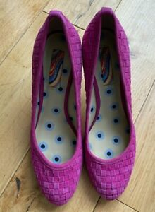 Paul Smith Ladies Pink  Leather Court Shoes