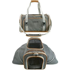 Double Expandable Airline Approved Pet Carrier by Mr. Peanut's
