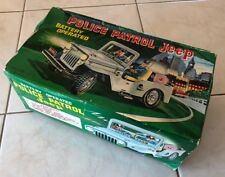 BOX ONLY TN Nomura Japan Tin Litho Battery Operated Police Patrol Jeep original