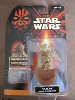Star Wars Episode 1 - Yoda action figure & comm tech chip - Lucasfilm toy
