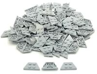 Lego 100 New Light Bluish Gray Wedges Plates 2 x 4 Dot Pieces