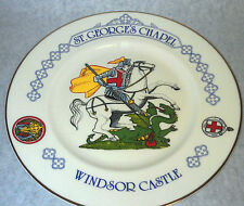 Plate Saint George's Chapel Windsor Castle Knight Slaying Dragon Vintage 10 1/2""