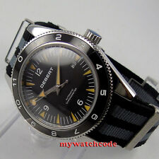 41mm debert black dial ceramic bezel sapphire glass miyota Automatic mens Watch