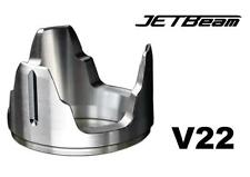 New Jetbeam V22 Stainless Steel Crenulated Bezel For JET 3M PRO, DDR26, RRT26
