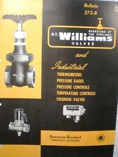 DT Williams Valves Catalog ASBESTOS Packing American Radiator Standard Sanitary
