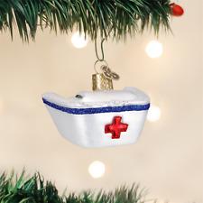 OLD WORLD CHRISTMAS NURSE'S CAP GLASS CHRISTMAS ORNAMENT 36146