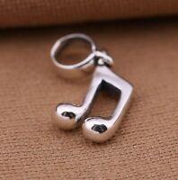 925 Sterling Silver Pendant Music Symbol Dangle Charm Fit European Bracelet