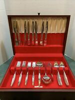 Vintage Reed & Barton *Denmark 1963 Silverplate Flatware 55 Pieces In Chest