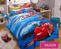 Disney Pixar Cars Lightning McQueen 100%Cotton Sheet Duvet Cover Bed Bedding Set