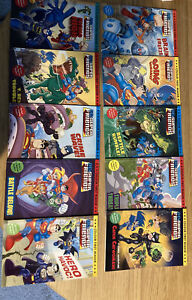 10 x DC Super Friends Colour First Reader Paperback Book, Key Stage 1 Level Book