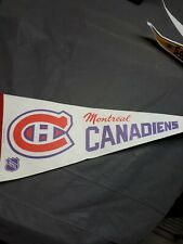 Vintage 1980s Montreal Canadiens NHL Hockey Pennant Rare Used
