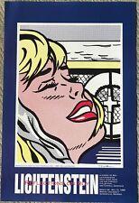 """Roy Lichtenstein Art Exhibition Print of """"Shipboard Girl"""" 1995 FREE SHIPPING"""