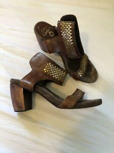calleen cordero 7 Brown Leather Sandals Heels