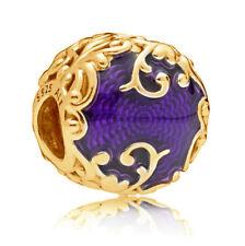 Authentic PANDORA Regal Pattern Charm 14k Gold Vermeil 797607EN13