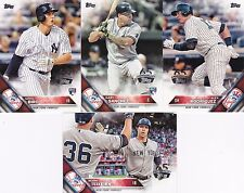 2016 TOPPS 65TH Anniversary Logo Stamped YANKEES Team Set w/ GARY SANCHEZ RC