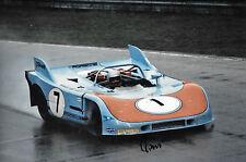 Reinhold Joest SIGNED 12x8  Porsche 908/03  Monza 1000kms 1971