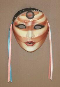 Vintage Wall Decor Clay Mask Saturn Terrestrial Woman